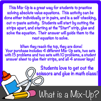 Solving Absolute Value Equations Mix-Up!