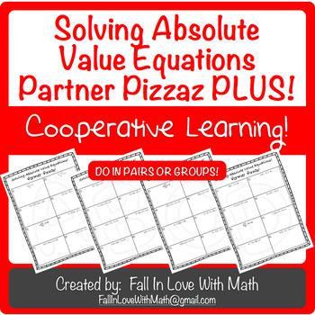 Solving Absolute Value Equations Partner Pizzaz PLUS!