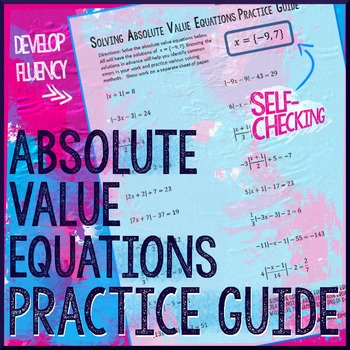 Solving Absolute Value Equations Practice Guide