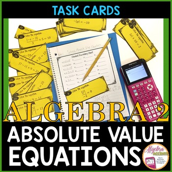 Solving Absolute Value Equations Task Cards