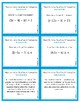 Solving Absolute Value Equations and Inequalities Task Cards