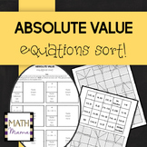 Solving Absolute Value Equations (by Graphing) Sort!