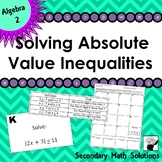 Solving Absolute Value Inequalities Escape Room Activity (2A.6F)