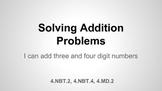 Solving Addition Problems Unit 5.2.1