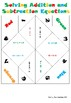 Solving Addition and Subtraction Equations Cootie Catcher (Fortune Teller)