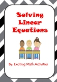 Solving Addition and Subtraction Equations Cootie Catcher