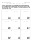 Solving Addition and Subtraction Equations with Decimals &