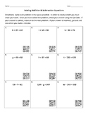 Solving Addition and Subtraction Equations with QR Codes