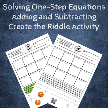 Solving One-Step Equations (Adding & Subtracting) Create the Riddle Activity
