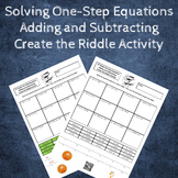 Solving One-Step Equations (Adding & Subtracting) Create t