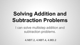 Solving Addition and Subtraction Problems 5.4.5