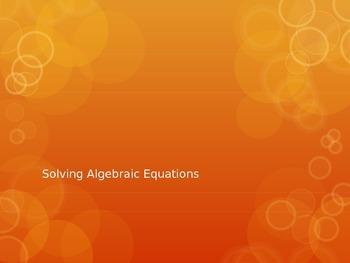 Solving Algebraic Equations