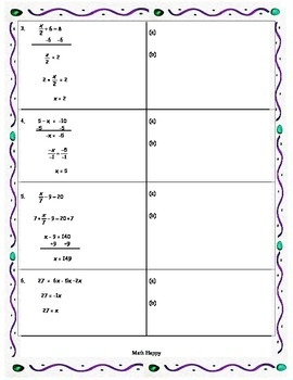 Solving Algebraic Equations - Finding the Mistake