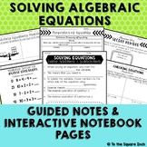 Solving Algebraic Equations Interactive Notebook