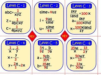 Solve Proportion Equations: 24 Printable Task Cards, Review Assessment Test Prep
