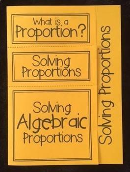 Solving Algebraic Proportions (Foldable)