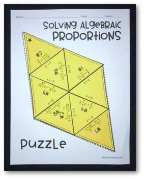 Solving Algebraic Proportions (Mini Puzzle)