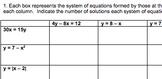 Solving Algebraic Systems of Equations Bundle (Ideal for Algebra or Pre-Calc)