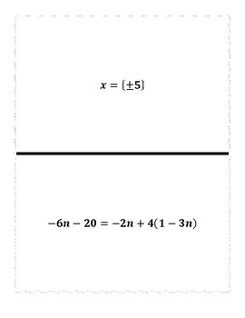 Solving All Types of Equations/Inequalities Scavenger Hunt (ALG 2)