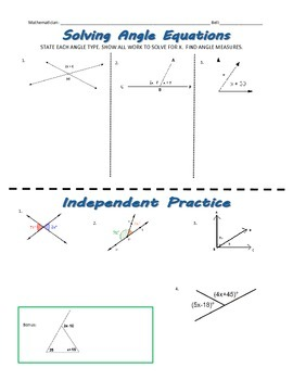 Solving Angle Equations