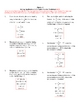 Solving Applications & Formulas Practice Worksheet
