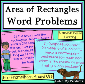 Solving Area for Rectangles Word Problems for Promethean B