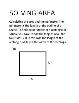 Solving Area Cheat Sheet