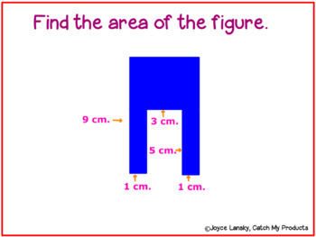 Area of Irregular Shapes - Polygons for the PROMETHEAN Board
