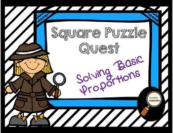 Solving Basic Proportions - Square Puzzle Quest
