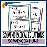 Solving Radical Equations Scavenger Hunt