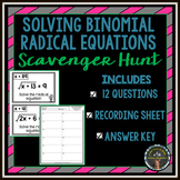 Solving Radical Equations Scavenger Hunt