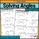 Solving Complementary, Supplementary & Vertical Angles for