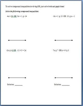 Solving Compound Inequalities (Guided Notes)