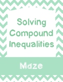 Solving Compound Inequalities Maze