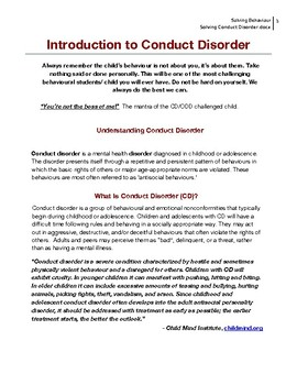 Solving Conduct Disorder