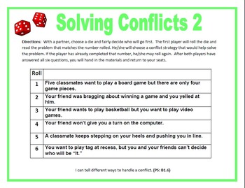 Solving Conflicts  Roll-A-Die