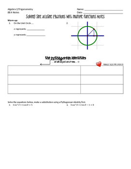 Solving Cosine Equations