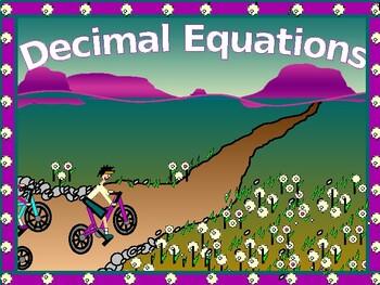 Algebra Power-Point:  Solving Decimal Equations