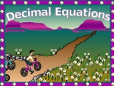 Algebra Power-Point:  Solving Decimal Equations with GUIDED NOTES