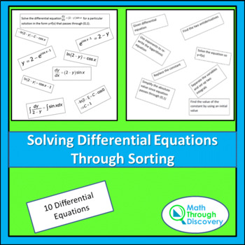 Calculus:  Solving Differential Equations through Sorting