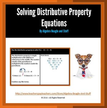 Solving Distributive Property Equations Scaffold Notes