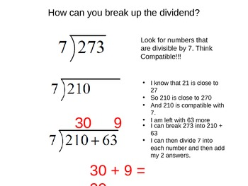 Solving Division by Breaking Up the Dividend