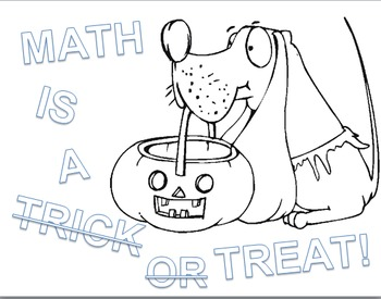 "Solving Equation ""Math is a Treat"" October Glyph (Color by"