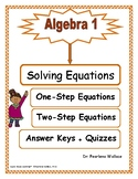 Solving Equations: One-Step Equations & Two-Step Equations (Algebra 1)