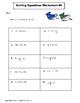 Solving Equations: One-Step Equations & Two-Step Equations (Algebra 1)