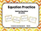 Solving Equation Task Cards (24 cards)