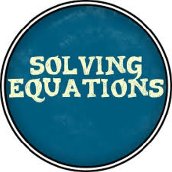 Solving Equation Trick and  Task
