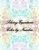 Solving Equations (1-step) Color by Number