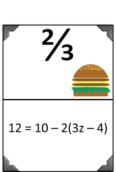 Solving Equations - 10 pack - Scavenger Hunts + 20 Exit Tickets
