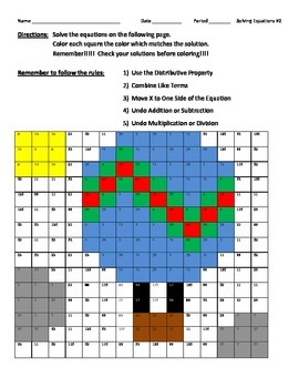 Solving Equations #2 Balloon Drawing